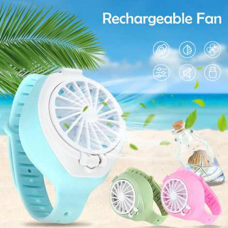 Cooling Mini Watch Fan Handheld USB Fan