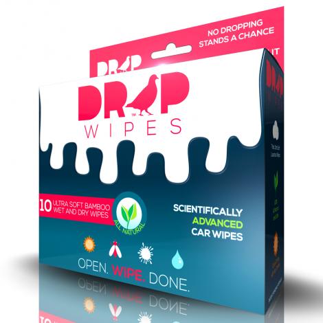 DROP WIPES - Bird Poop Remover