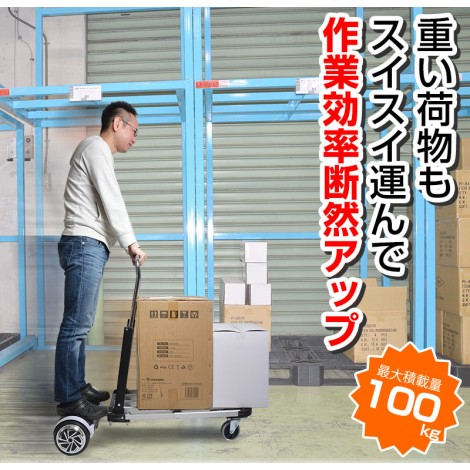 Electric ride on cart dolly