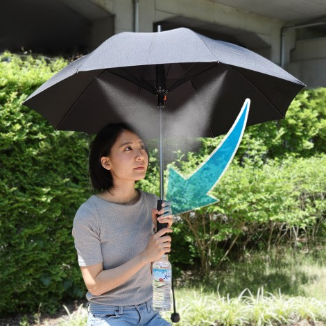 Fanbrella with mist shower
