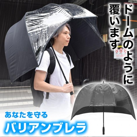 Front Clear Dome umbrella