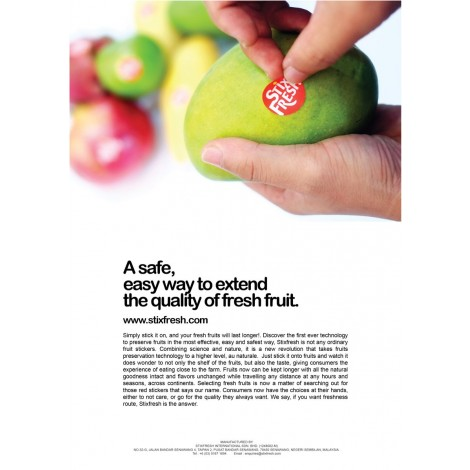 StixFresh - Stickers keep fruit FRESH