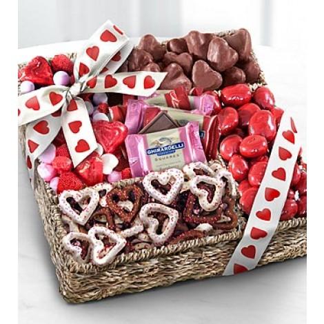 Sweet Them Off Their Feet Valentine Gourmet Basket