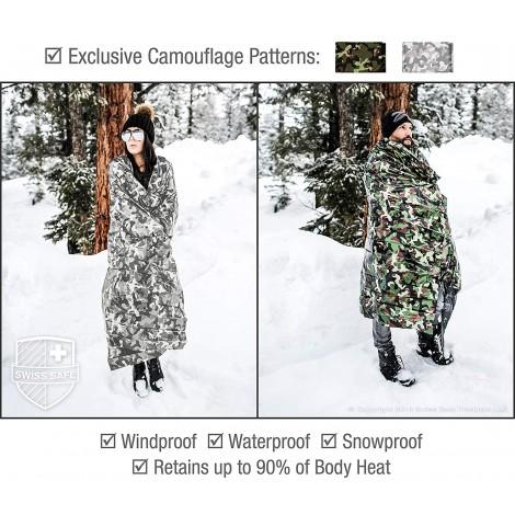 Swiss Safe Emergency Mylar Thermal Blankets