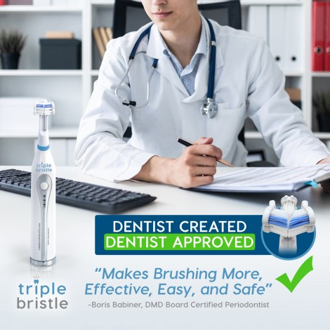 Triple Bristle Go - Travel Sonic Toothbrush