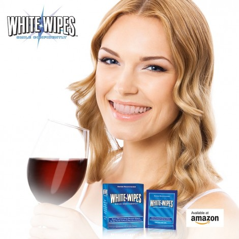White Wipes - Teeth Whitening Wipes for Coffee & Red Wine