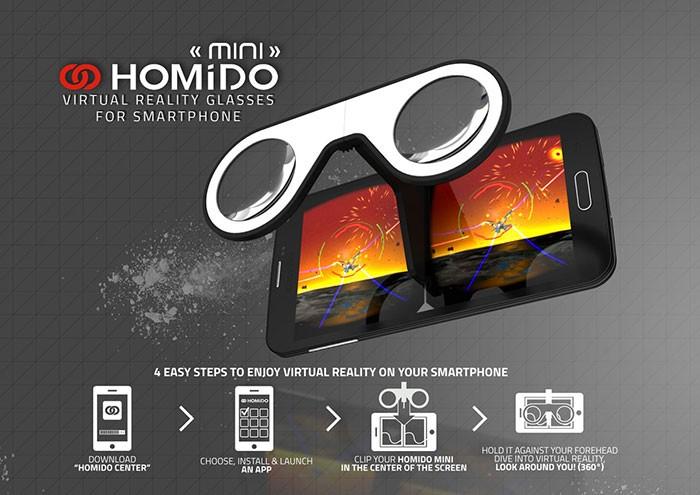 e3cde922f3c9 Homido mini - Virtual Reality glasses for smartphone