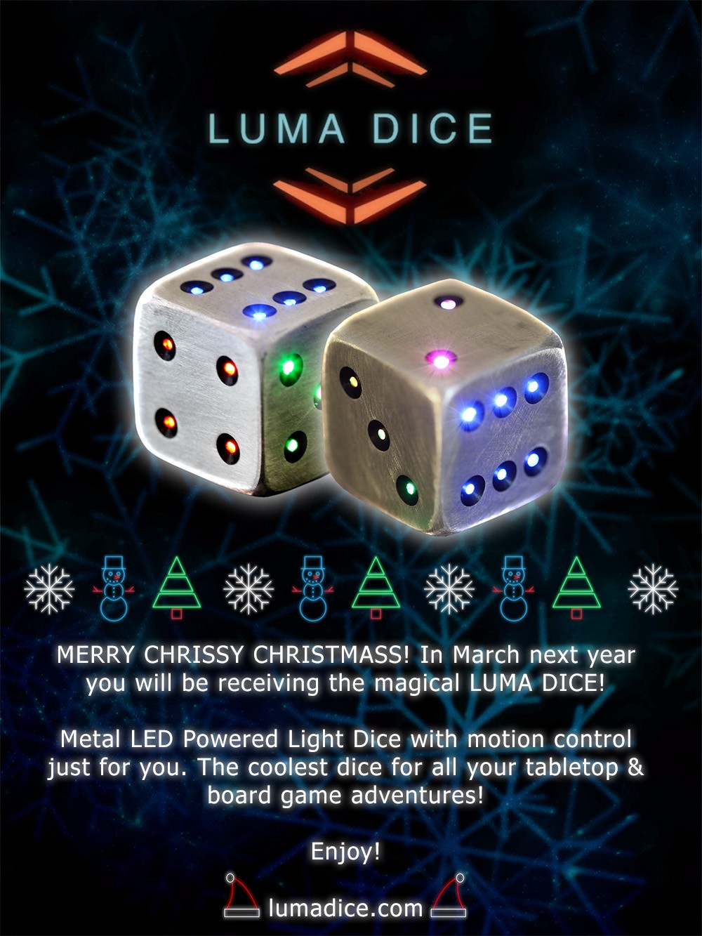 Luma Dice Motion Activated Led Zoom
