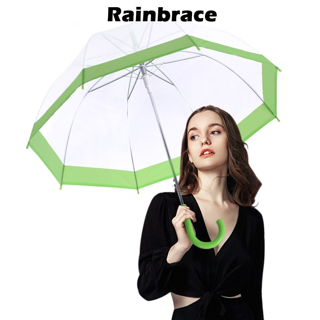 b4fe83dea001 Rainbrace Clear Bubble Umbrella
