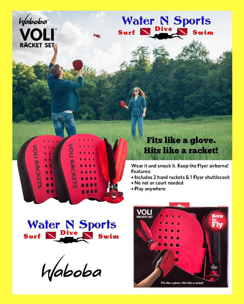 2 Paddles and Flyer /_ from Waboba VOLI Racket Set /_