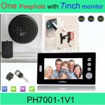 Digital wireless peephole viewer security door camera