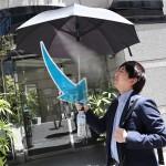 Fanbrella with mist shower