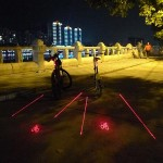Intelligent Bike Logo Safety Rear Tail Light