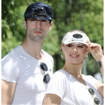 Solar Visor Hat with rechargeable fan
