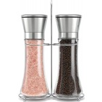 Willow Everett Original Stainless Steel Salt Pepper Grinder Set