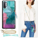 ZVE Samsung Galaxy Note Crossbody Chain Strap Wallet Case