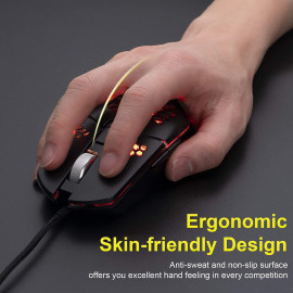 Anholi USB Wired Honeycomb Cooling Fan Gaming Mouse