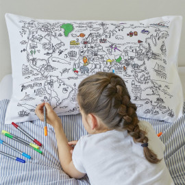 eatsleepdoodle Color Pillowcase