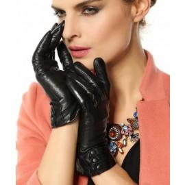 Elma Touchscreen Texting Nappa Leather Gloves