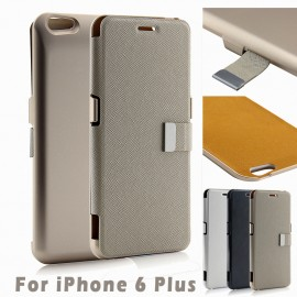 External Battery Flip Cover Case for iPhone 6+
