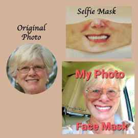 FREE Lanyard strap with your PHOTO face mask