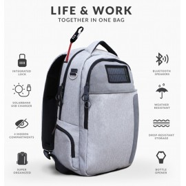 Lifepack - Solar Powered Anti-Theft Backpack
