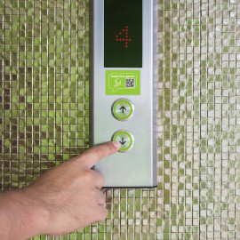 NeverGerms Antimicrobial Elevator Button Surface Covers