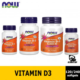 NOW Foods Supplements Vitamin D-3