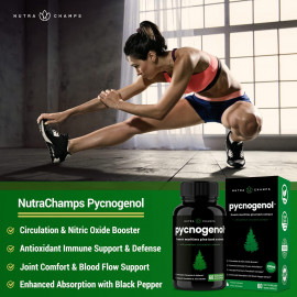 NutraChamps Pycnogenol French Maritime Pine Bark Extract