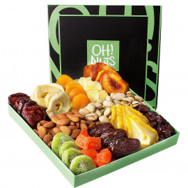 Oh Nuts Holiday Nut and Dried Fruit Gift Basket