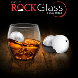 On The Rock Glass + Ice Ball