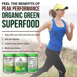 Peak Performance Organic Greens Superfood Powder