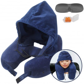 Sunany Hoodie Pillow Inflatable Travel Pillow