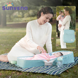 SUNVENO Portable Baby Crib Bed Bag