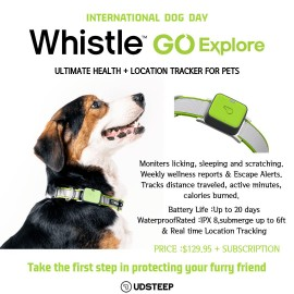 Whistle GO Explore - Ultimate Health + Location Tracker for Pets