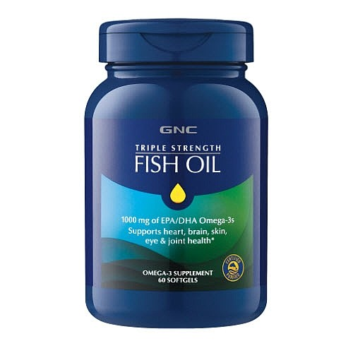 Gnc triple strength fish oil for Fish oil pills for buttocks review