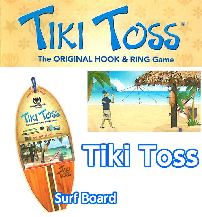 Tiki Toss Hook And Ring Game