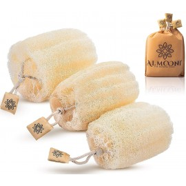 ALMOONI Natural Organic Egyptian Loofah Sponge