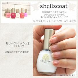 Aqueous nail shellscoat