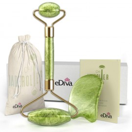 eDiva Natural Jade Roller– Gua Sha