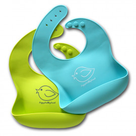 Happy Healthy Parent EZ Clean Silicone Bibs