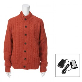 Heated Cardigan Sweater