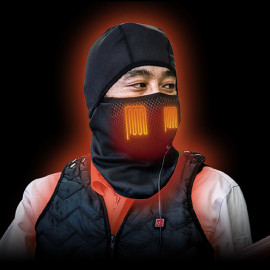 Hot face mask with built-in heater