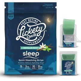 Lickety Qwik Melatonin Fast Dissolve Sleep Aid Strips