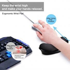 LINGSFIRE Memory Foam Mouse Wrist Rest Pad