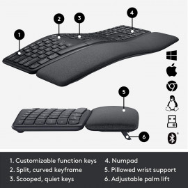Logitech Ergo K860 Wireless Ergonomic Keyboard