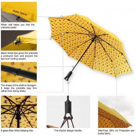 Make Shine ClipGo Travel Automatic Umbrella