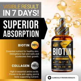 PURE RESEARCH Biotin & Collagen Hair Growth Liquid Drops