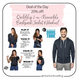 Quikflip Reversible Backpack Hoodie