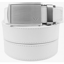 SlideBelts Winged Silver Leather Ratchet Belt